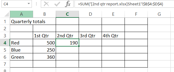 go to linked cells in an excel formula