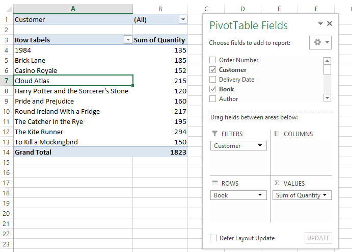 PivotTables over separate sheets using Report Filter Pages