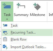 recurring milestone in microsoft project