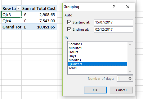 How to change PivotTable grouping in one table without